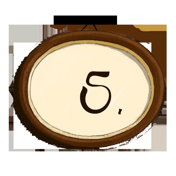 Bilderrahmen Nummerierung 5