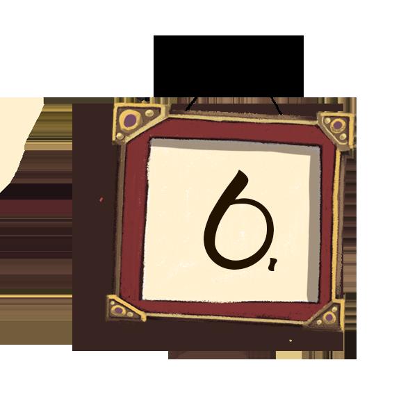Bilderrahmen Nummerierung 6
