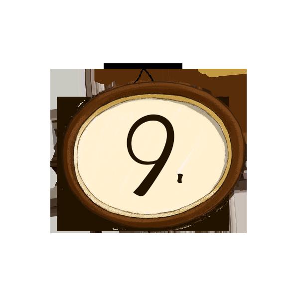 Bilderrahmen Nummerierung 9