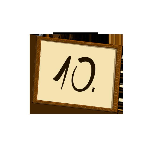 Bilderrahmen Nummerierung 10