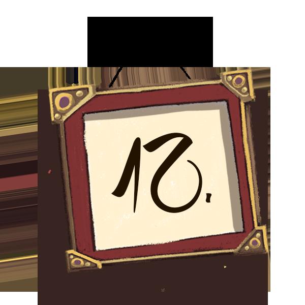 Bilderrahmen Nummerierung 12